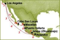 Route Map for the Mexican Riviera