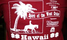 The 2012 Spirit of the West T-shirt for Hawaii!